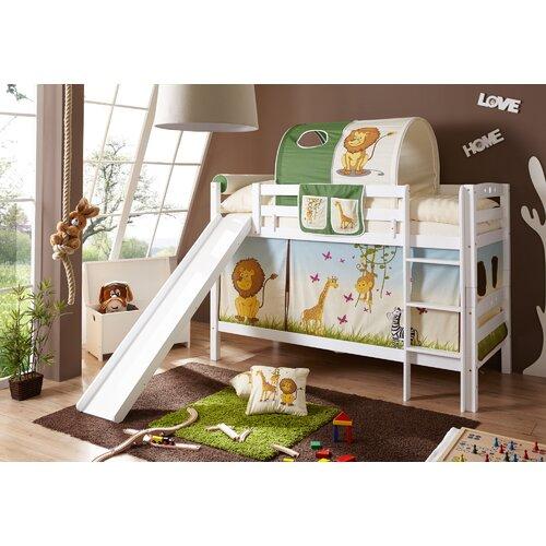 Etagenbett Eileen mit Rutsche  90 x 200 cm Roomie Kidz Farbe: Weiß   Kinderzimmer > Kinderbetten > Etagenbetten   Roomie Kidz