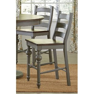 Sandbach Traditional Ladder Solid Wood Dining Chair (Set of 2) Three Posts