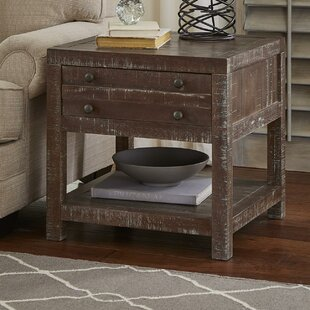 Haslemere Solid Wood End Table by Gracie Oaks