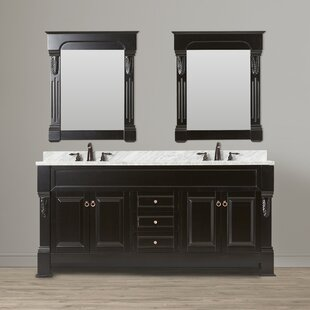 Corte 72 Double Bathroom Vanity Set with Mirror by Darby Home Co