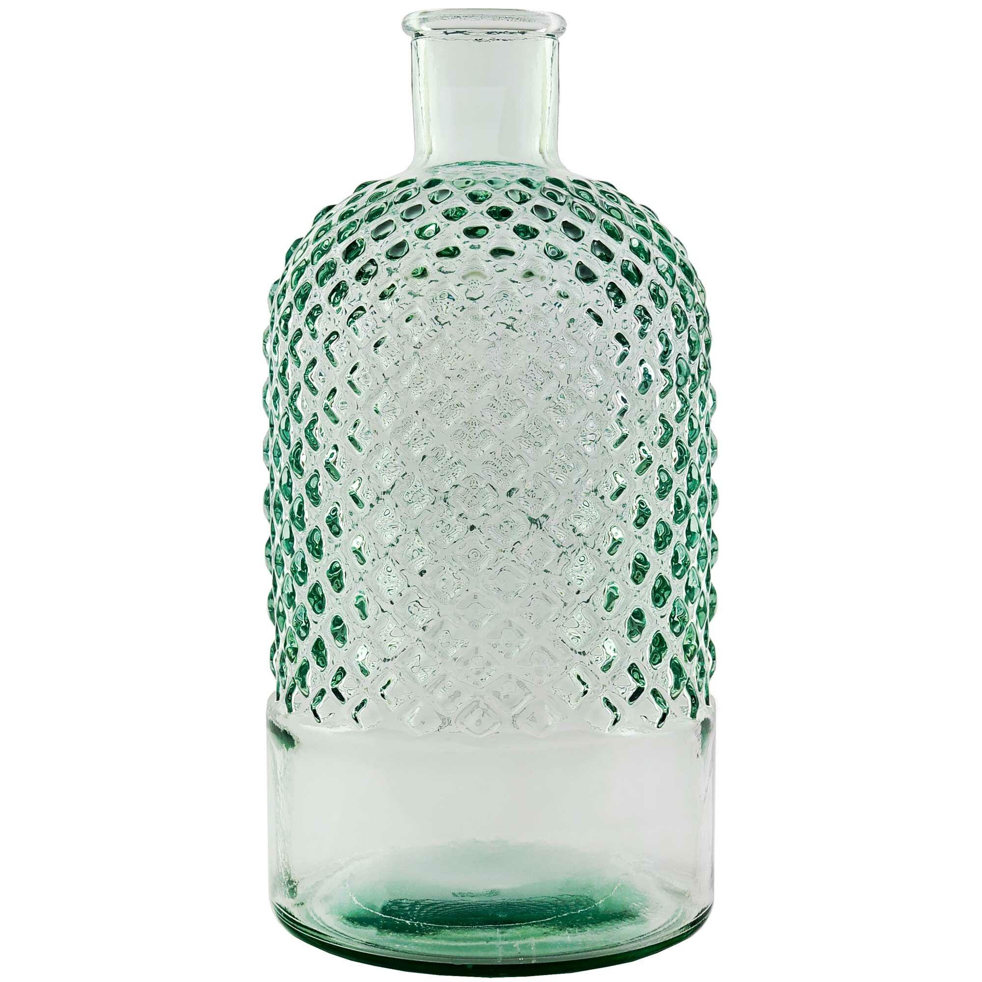 Highland Dunes Gabilan Diamond Recycled Glass Decorative Bottles Wayfair