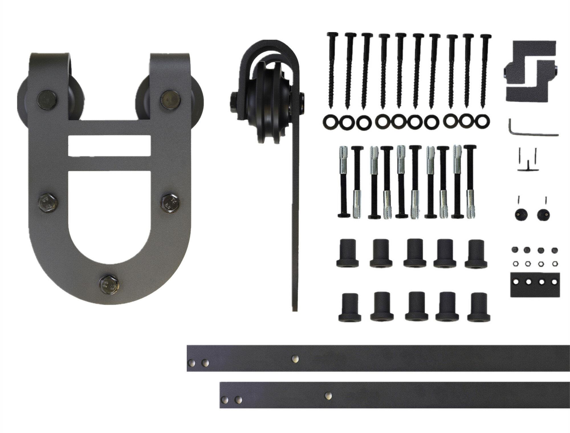 Vancleef Horseshoe Design Standard Single Track Barn Door Hardware Kit Reviews Wayfair