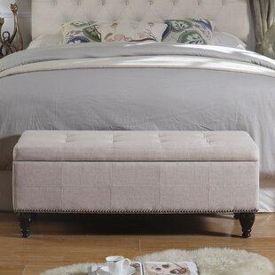 Review Darrah Upholstered Storage Bench