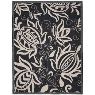 Laurel Black/Tan Indoor/Outdoor Area Rug