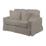 Columbus Box Cushion Loveseat Slipcover by August Grove