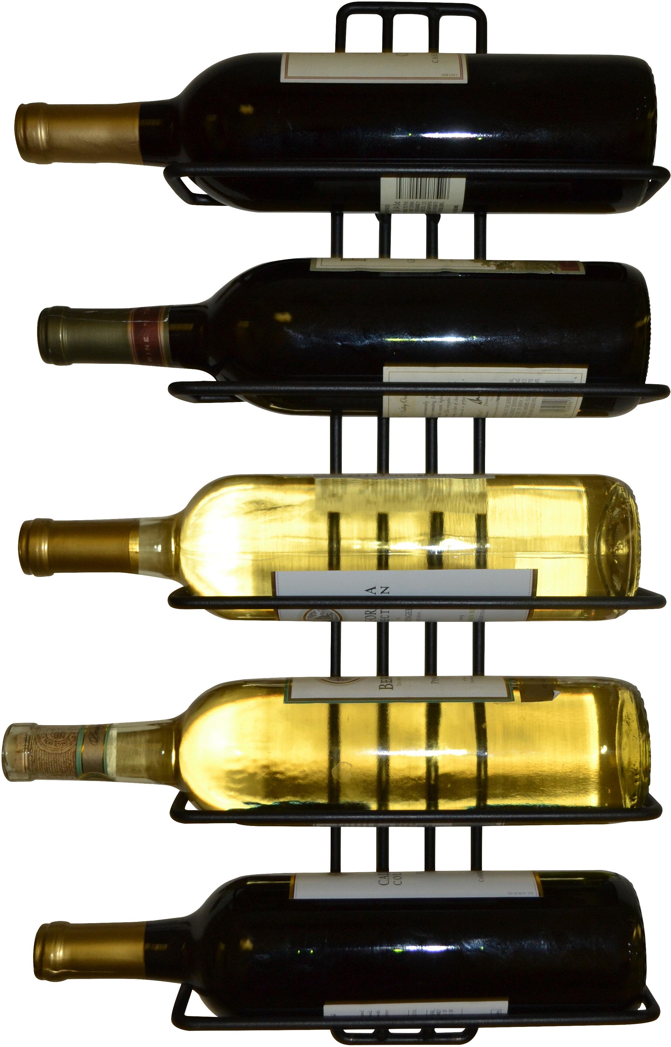Carlotta 5 Bottle Wall Mounted Wine Rack & Reviews | AllModern
