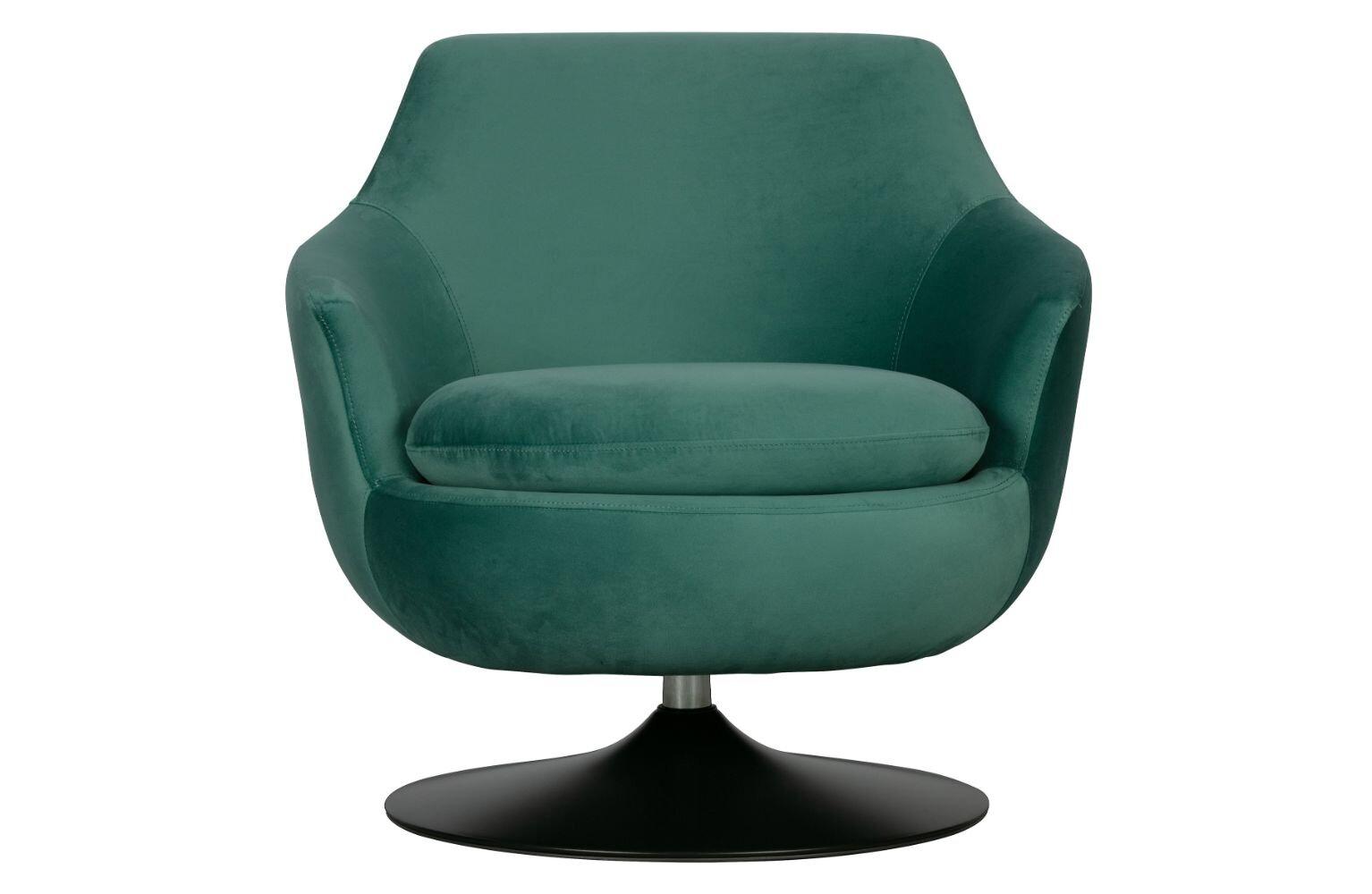 23 10'' Wide Velvet Swivel Armchair
