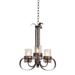 Kalco Bexley 3-Light Shaded Chandelier
