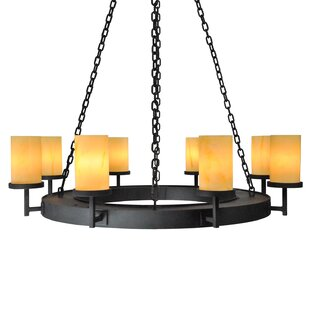 Adcock 8-Light Wagon Wheel Chandelier by ..