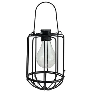 Chessani Cylindrical Solar Powered 1-Light Outdoor LED Hanging Lantern by Williston Forge