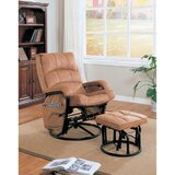Zismer Downrightly Relaxing Manual Glider Recliner with Ottoman by Red Barrel Studio®