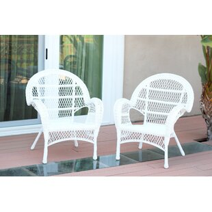 Wicker Armchair Chair (Set of 2)