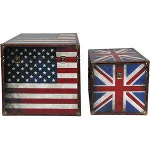 2-tlg. Kisten-Set TridentVolcano von All Home