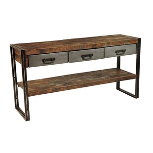 Review Marguerite 3 Drawer Console Table By 17 Stories
