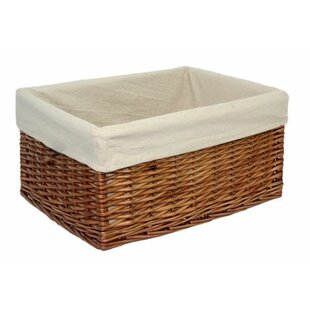 Extra Large Lined Storage Wicker Basket By Brambly Cottage