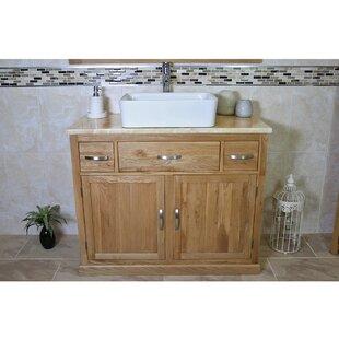 Lorenzo Solid Oak 1000mm Free-Standing Vanity Unit By Belfry Bathroom
