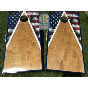 West Georgia Cornhole American Flag Half Triangle 10 Piece Cornhole Set