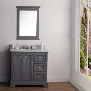 Hammondale 36'' Single Sink Bathroom Vanity Set with Mirror by Canora Grey