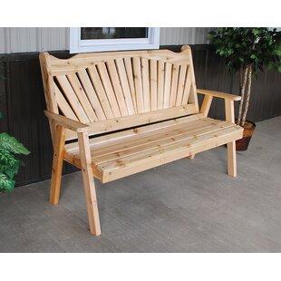 Online Purchase Fanback Wood Garden Bench Purchase Online