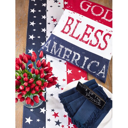 American Flag Cotton Table Runner