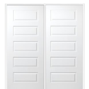 5 panel interior doors youll love wayfair rockport mdf 5 panel primed prehung interior door planetlyrics