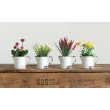 Mixed Floral Arrangement in Pot (Set of 4) by Bungalow Rose