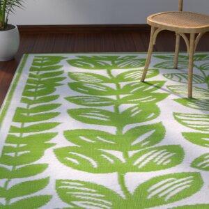Dixon Cream & Green Indoor/Outdoor Area Rug