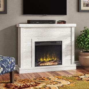 Corner Oak Electric Fireplace Wayfair
