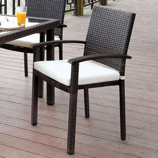 Lentz Suave Wicker Upholstered Dining Cha..