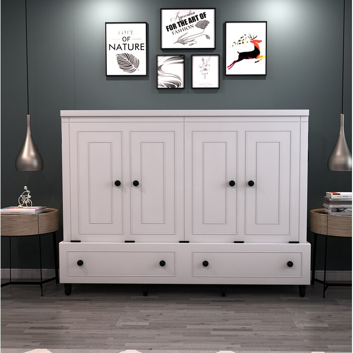 Delicieux Rolling Queen Murphy Bed With Mattress