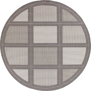Zachary Gray Indoor/Outdoor Area Rug by Andover Mills