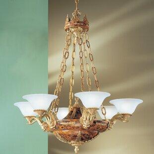 Classic Lighting Queen Isabela 6-Light Shaded Chandelier