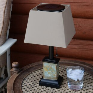 Outdoor Table Light Outdoor solar table lamps wayfair isabel outdoor square solar 165 table lamp workwithnaturefo