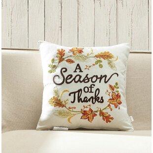 Fairmount Season of Thanks Throw Pillow