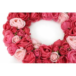 Rose 38cm Wreath (Set Of 6) By The Seasonal Aisle