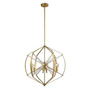 Alderfield 6-Light Geometric Chandelier by Mercer41