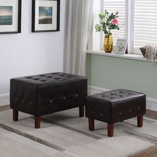 Micah 2-Piece Stackable Tufted Storage Ottoman