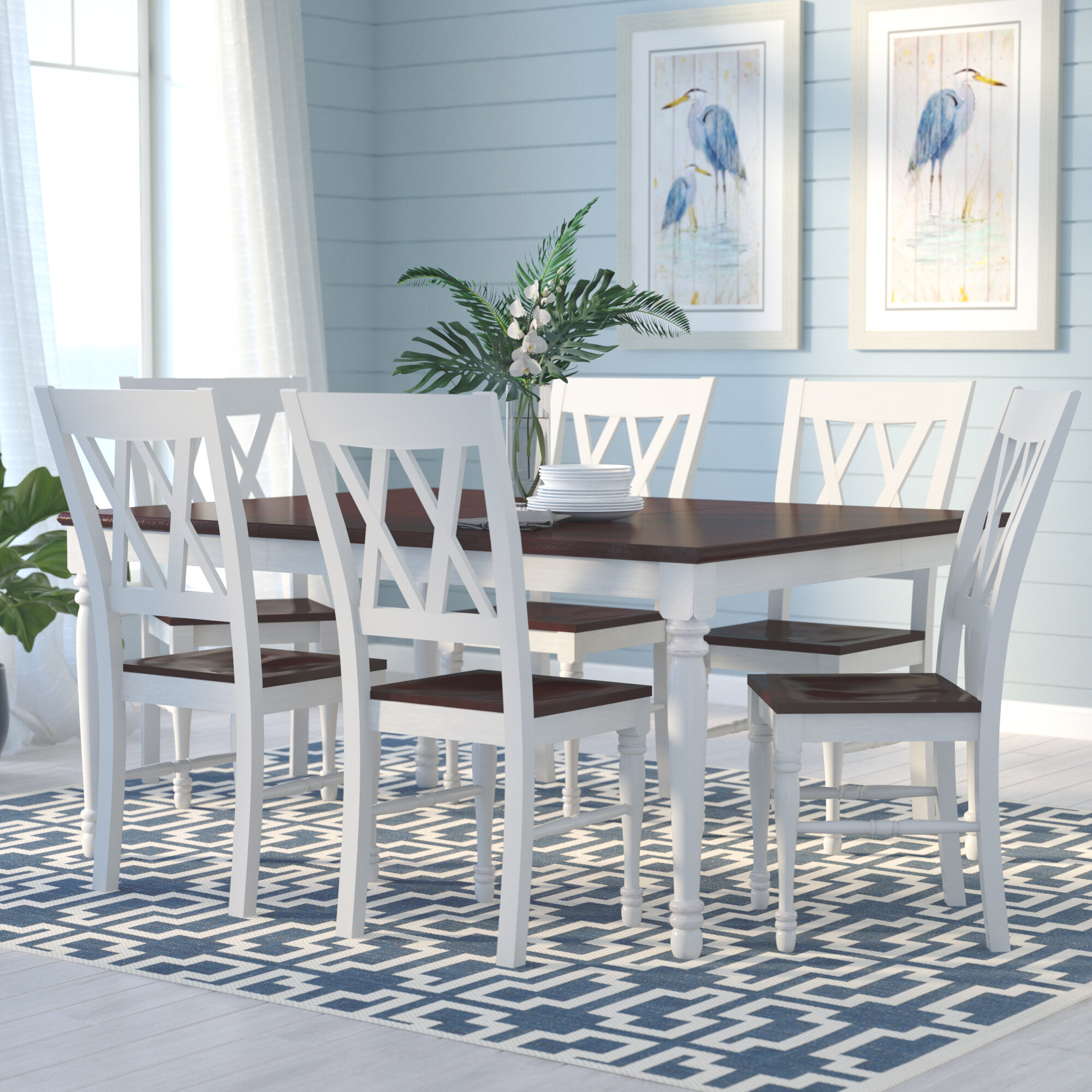 Beachcrest Home Tanner 7 Piece Dining Set U0026 Reviews | Wayfair