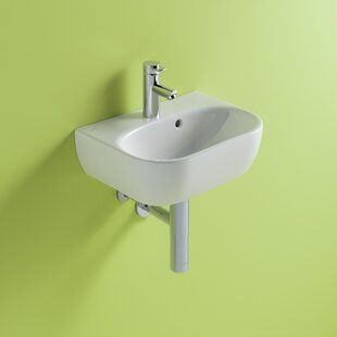 Best Reviews Twins Vitreous China 18 Wall Mount Bathroom Sink with Overflow By Bissonnet