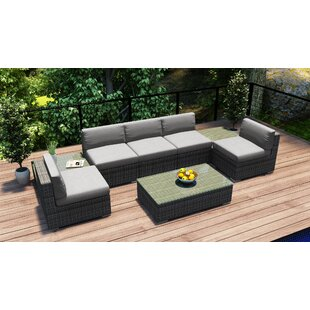 Harmonia Living District 8 Piece Sectional Set with Cushions