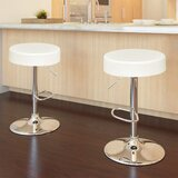 Brahms Swivel Adjustable Height Bar Stool by Latitude Run®