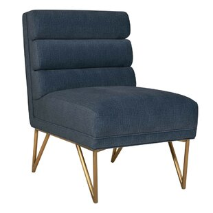 Greggory Slub Velvet Slipper Chair by Everly Quinn