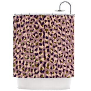 Leopard Print Single Shower Curtain