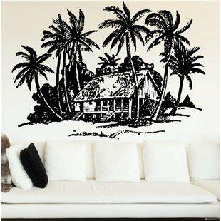 Nitin Beach House and Palm Trees Wall Decal & Palm Tree Wall Decals | Wayfair
