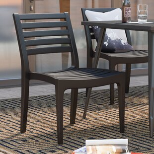 Escarcega Stacking Patio Dining Chair (Set Of 4) by Ivy Bronx Today Sale Only