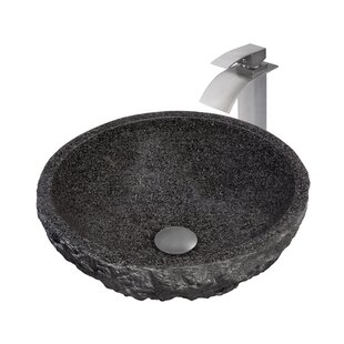 Novatto Absolute Metal Circular Vessel Bathroom Sink with Faucet