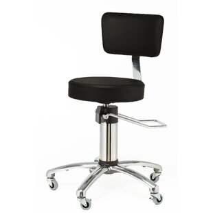 Height Adjusts Hydraulic Surgical stool with backrest