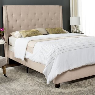 Gallimore Upholstered Panel Bed by Three Posts
