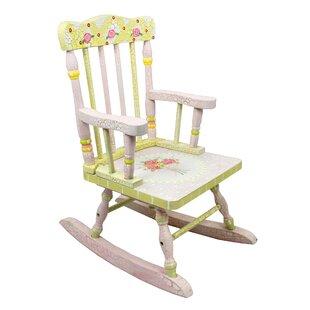 Crackled Rose Kids Rocking Chair ByFantasy Fields