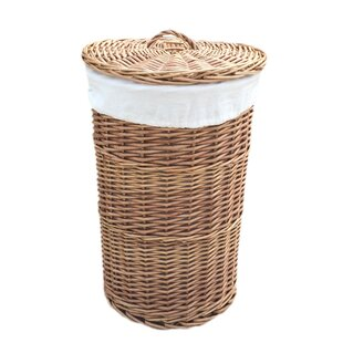 Round Lining Wicker Laundry Bin By August Grove